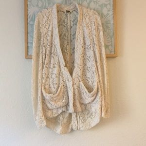 Free People lace cardigan small